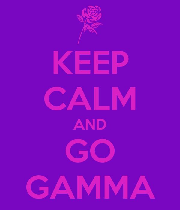 KEEP CALM AND GO GAMMA