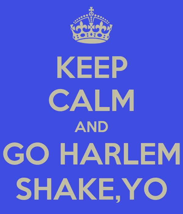 KEEP CALM AND GO HARLEM SHAKE,YO