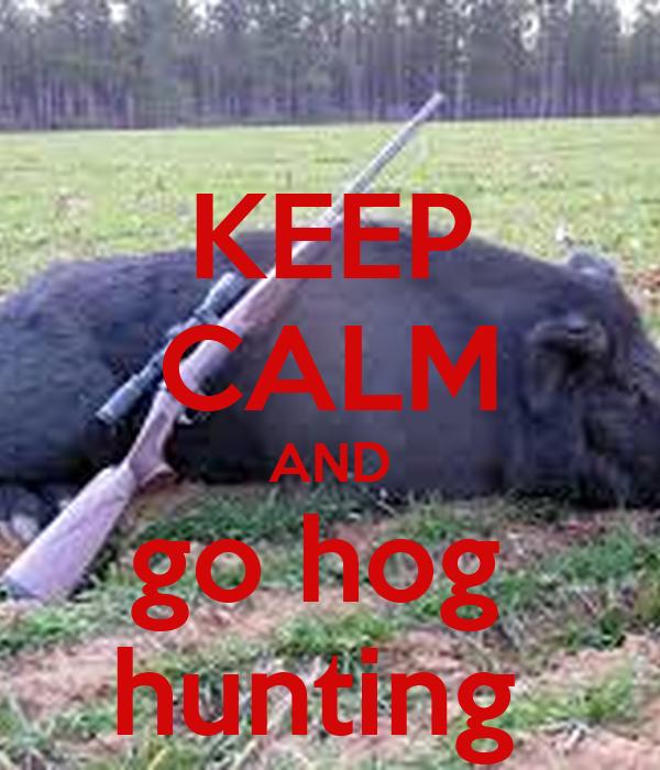 KEEP CALM AND go hog  hunting