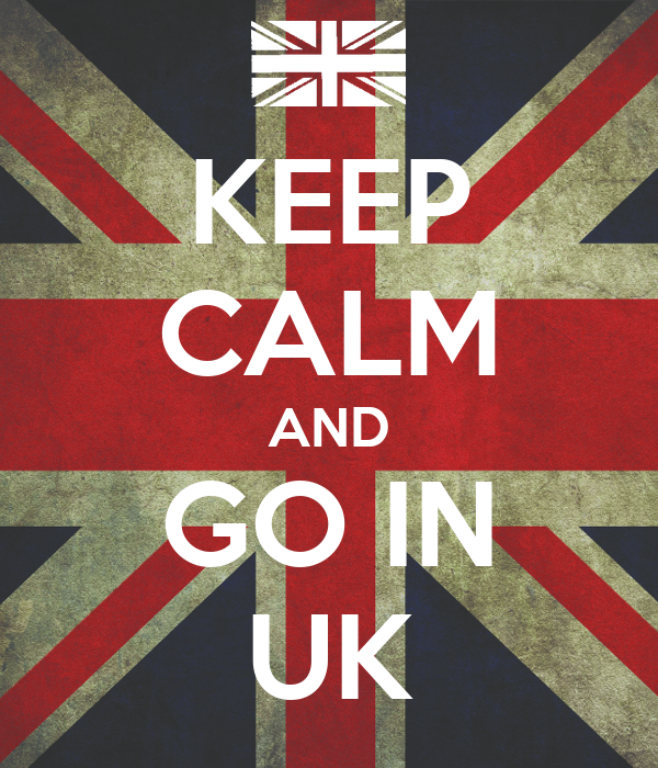 KEEP CALM AND GO IN UK