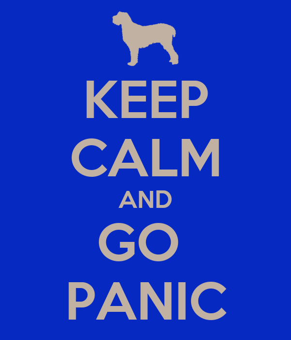 KEEP CALM AND GO  PANIC