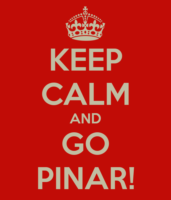 KEEP CALM AND GO PINAR!