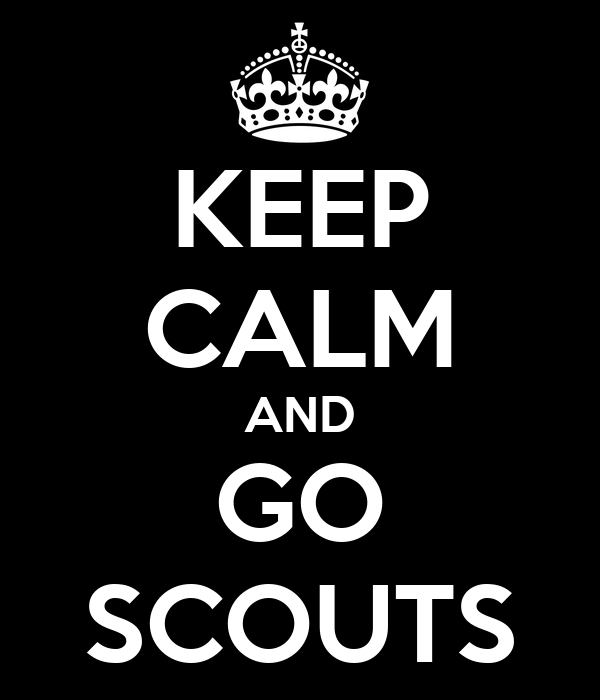KEEP CALM AND GO SCOUTS
