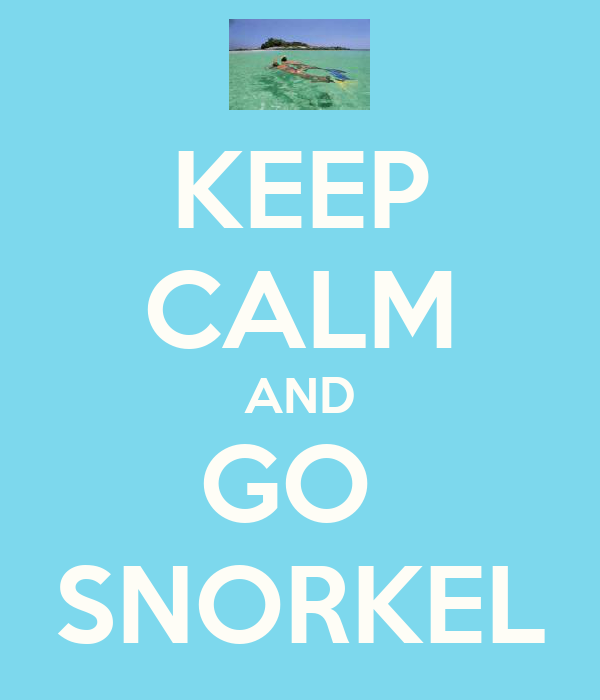 KEEP CALM AND GO  SNORKEL