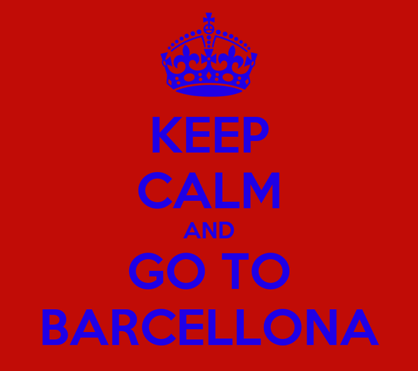 KEEP CALM AND GO TO BARCELLONA