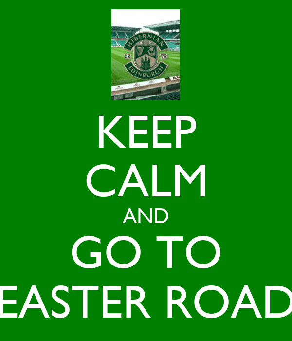 KEEP CALM AND GO TO EASTER ROAD
