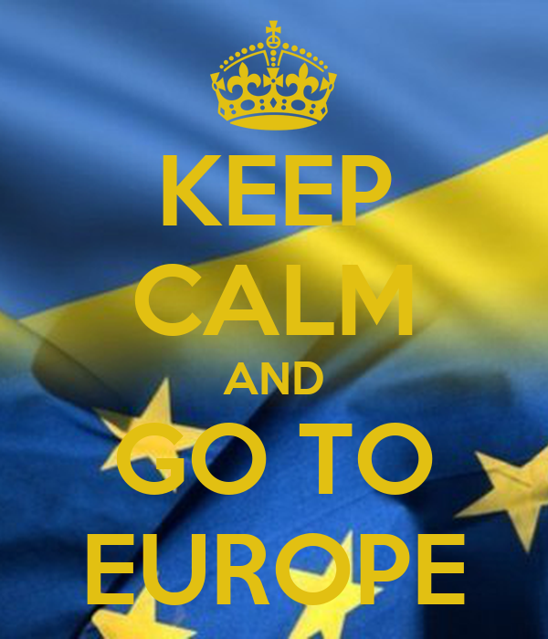 KEEP CALM AND GO TO EUROPE