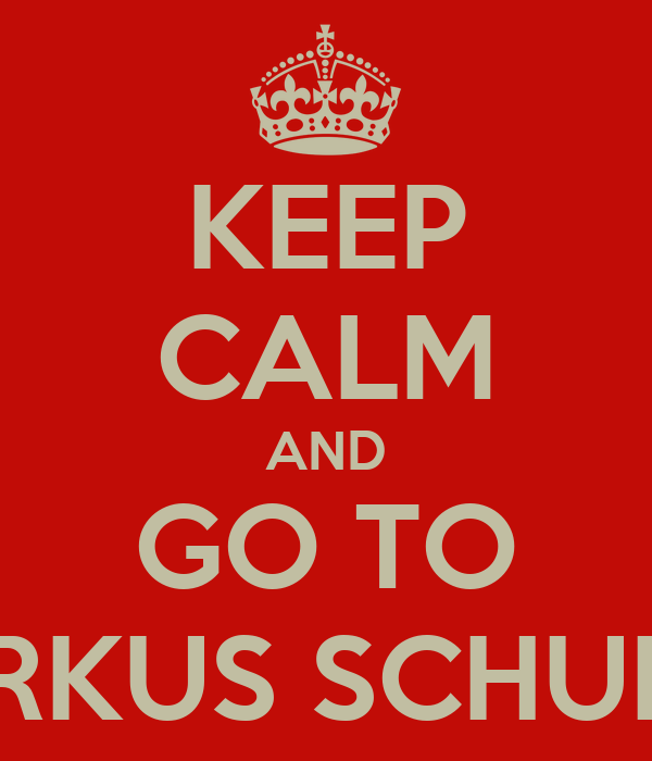 KEEP CALM AND GO TO MARKUS SCHULTZ