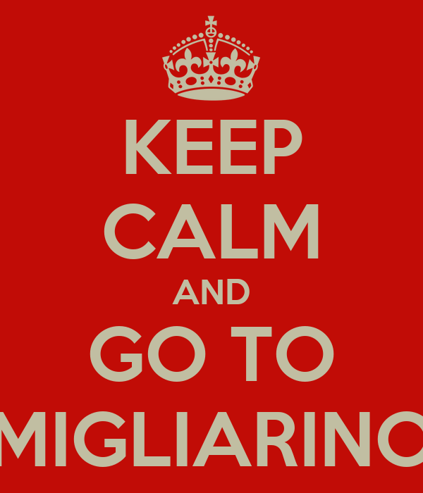 KEEP CALM AND GO TO MIGLIARINO