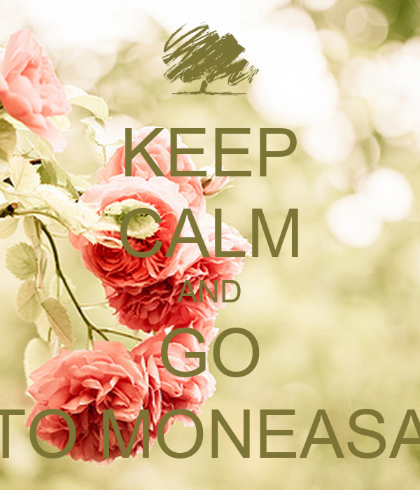 KEEP CALM AND GO TO MONEASA