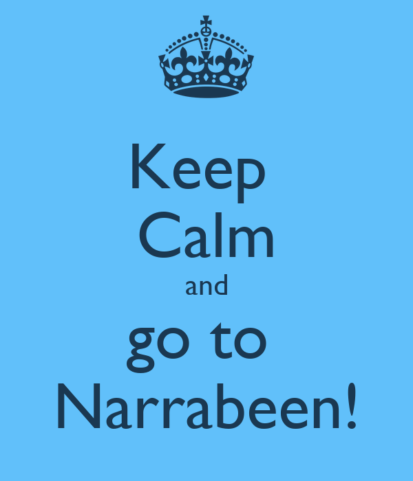 Keep  Calm and go to  Narrabeen!