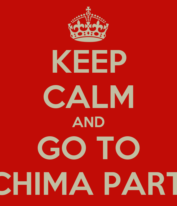 KEEP CALM AND GO TO SCHIMA PARTY
