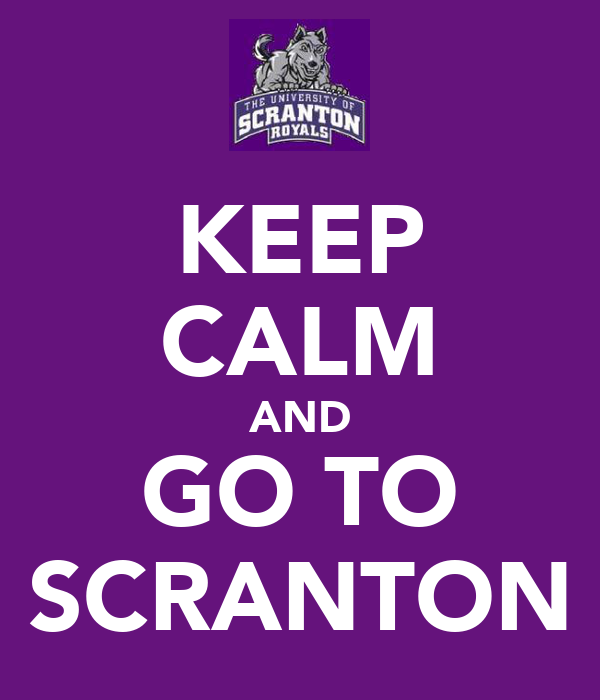 KEEP CALM AND GO TO SCRANTON