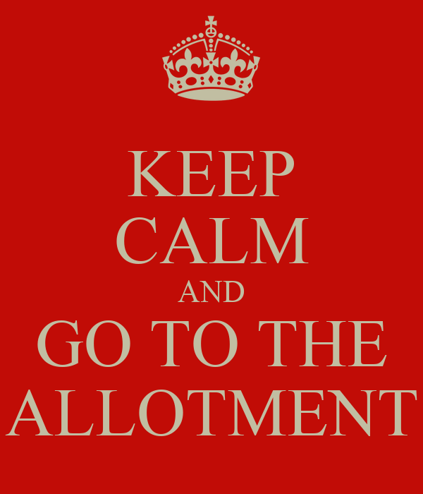 KEEP CALM AND GO TO THE ALLOTMENT