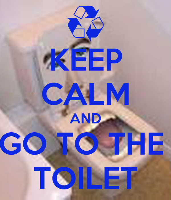 KEEP CALM AND GO TO THE  TOILET