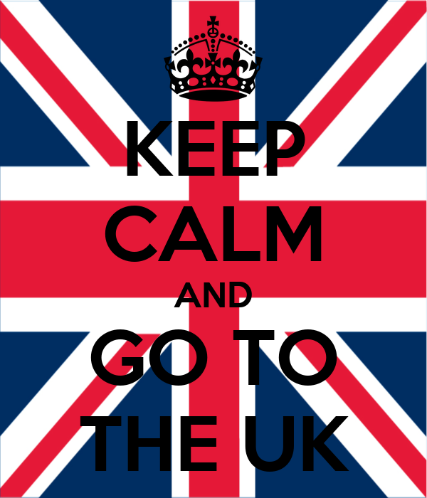 KEEP CALM AND GO TO THE UK