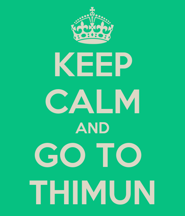 KEEP CALM AND GO TO  THIMUN