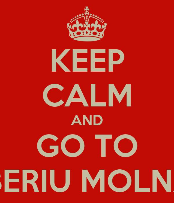 KEEP CALM AND GO TO TIBERIU MOLNAR