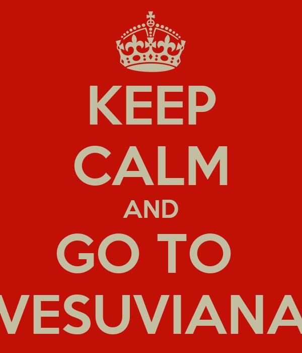 KEEP CALM AND GO TO  VESUVIANA