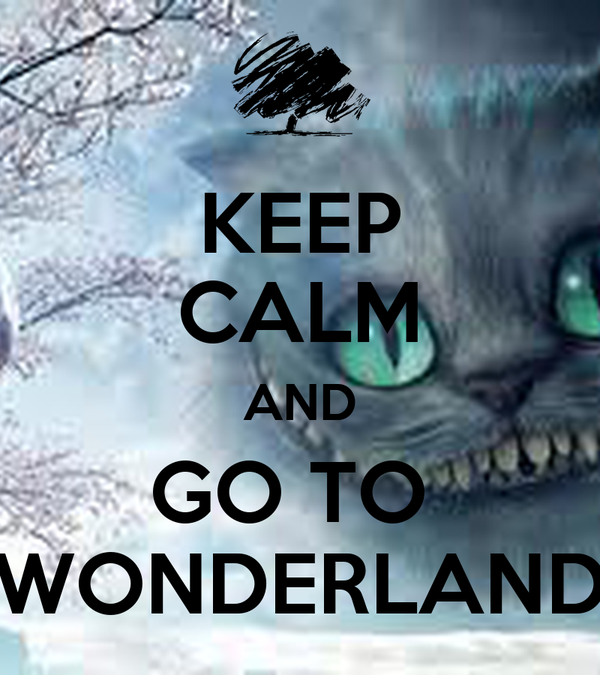 KEEP CALM AND GO TO  WONDERLAND