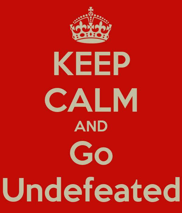 KEEP CALM AND Go Undefeated
