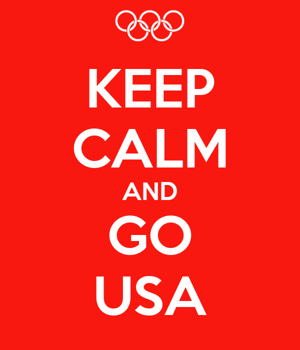 KEEP CALM AND GO USA
