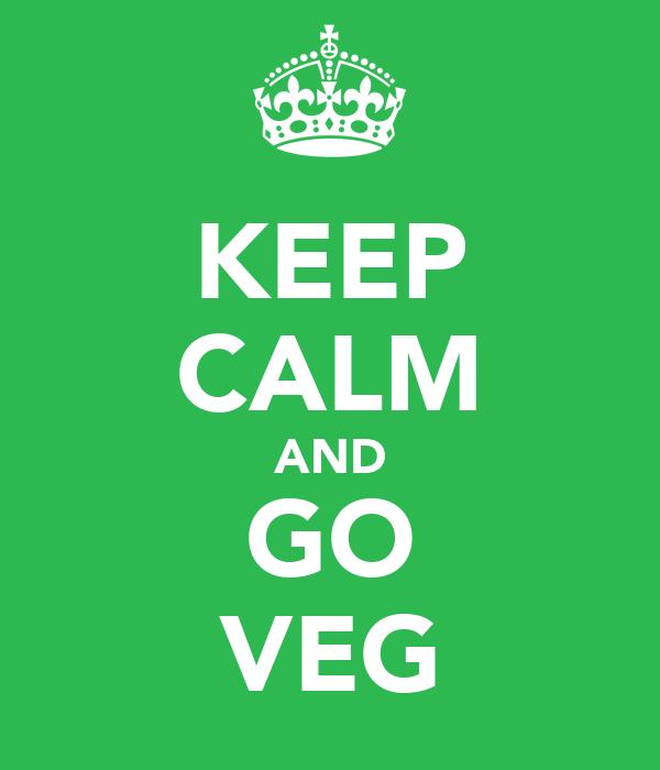 KEEP CALM AND GO VEG