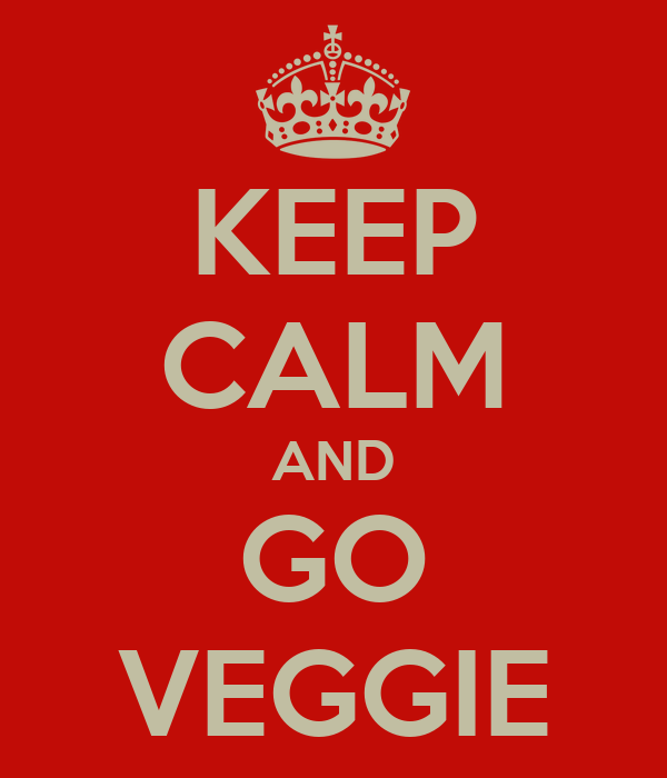 KEEP CALM AND GO VEGGIE