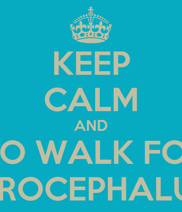 KEEP CALM AND GO WALK FOR HYDROCEPHALUS :D