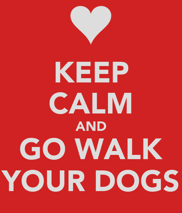 KEEP CALM AND GO WALK YOUR DOGS