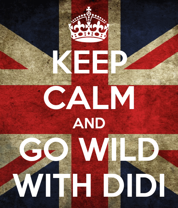KEEP CALM AND GO WILD WITH DIDI