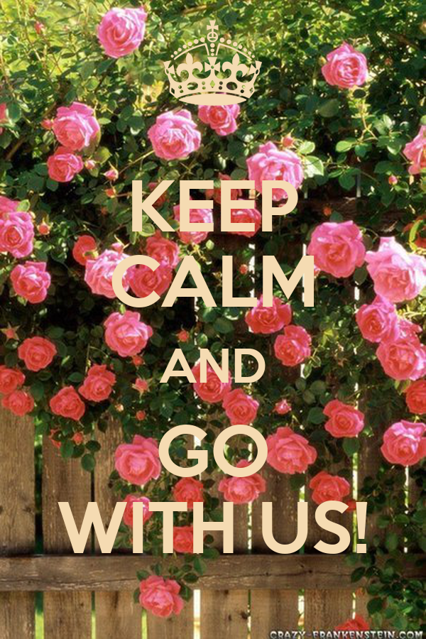 KEEP CALM AND GO WITH US!