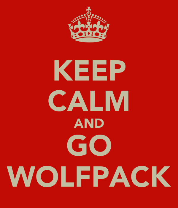 KEEP CALM AND GO WOLFPACK