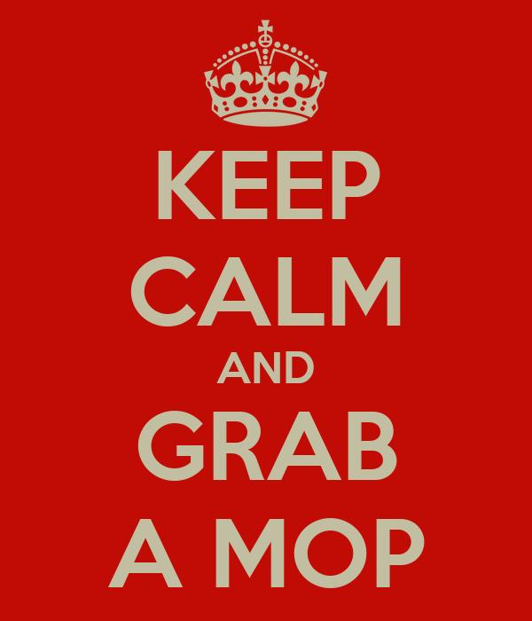 KEEP CALM AND GRAB A MOP