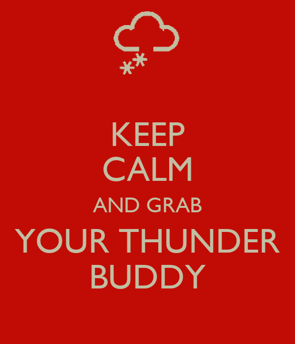 KEEP CALM AND GRAB YOUR THUNDER BUDDY