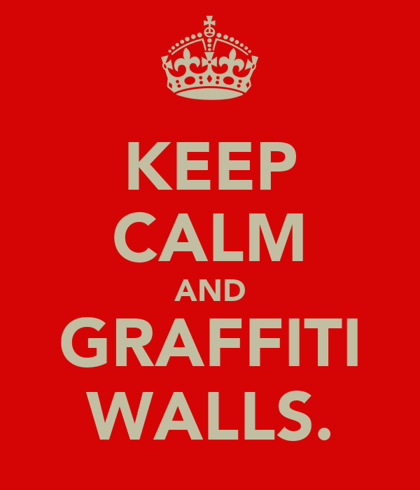 KEEP CALM AND GRAFFITI WALLS.