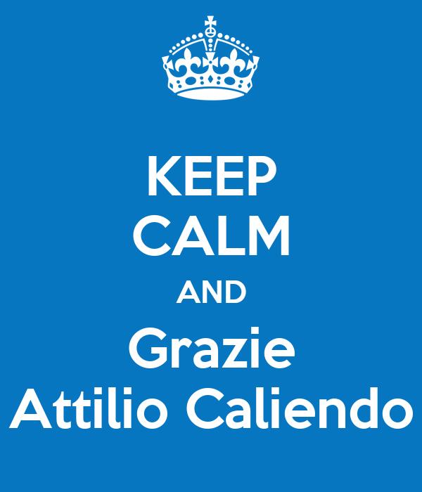 KEEP CALM AND Grazie Attilio Caliendo