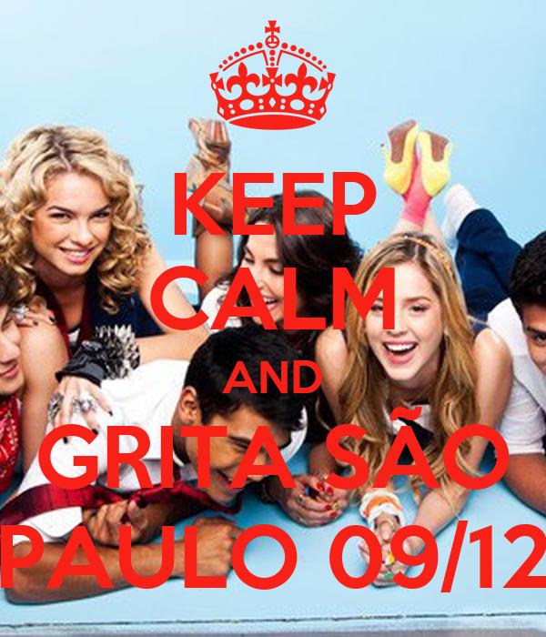 KEEP CALM AND GRITA SÃO PAULO 09/12