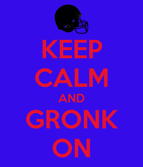 KEEP CALM AND GRONK ON
