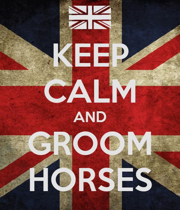 KEEP CALM AND GROOM HORSES