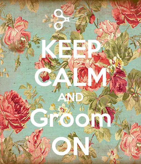 KEEP CALM AND Groom ON