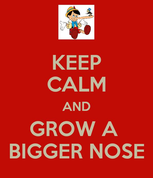 KEEP CALM AND GROW A  BIGGER NOSE