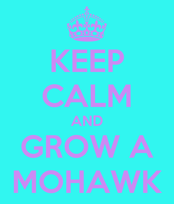 KEEP CALM AND GROW A MOHAWK
