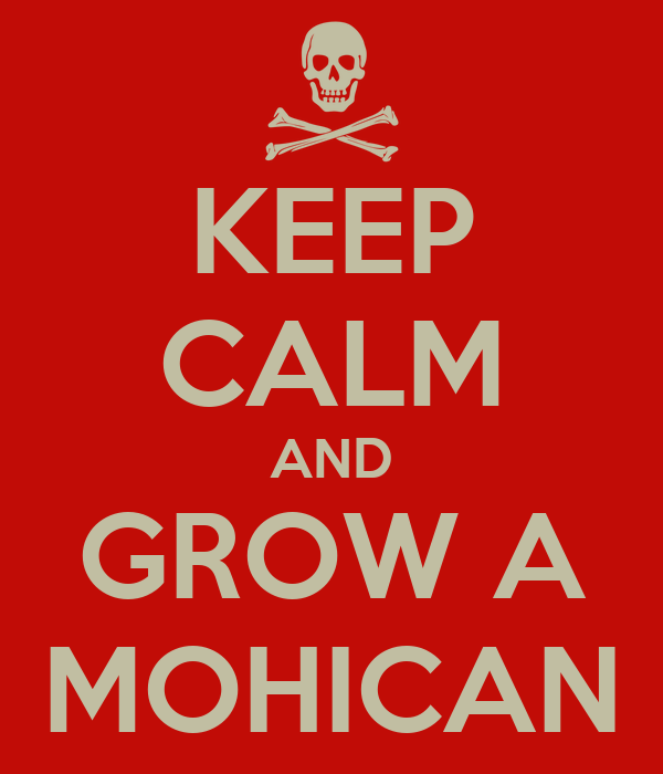 KEEP CALM AND GROW A MOHICAN