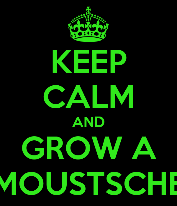 KEEP CALM AND GROW A MOUSTSCHE