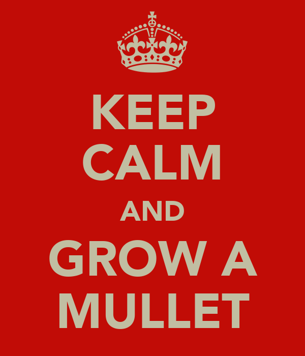 KEEP CALM AND GROW A MULLET
