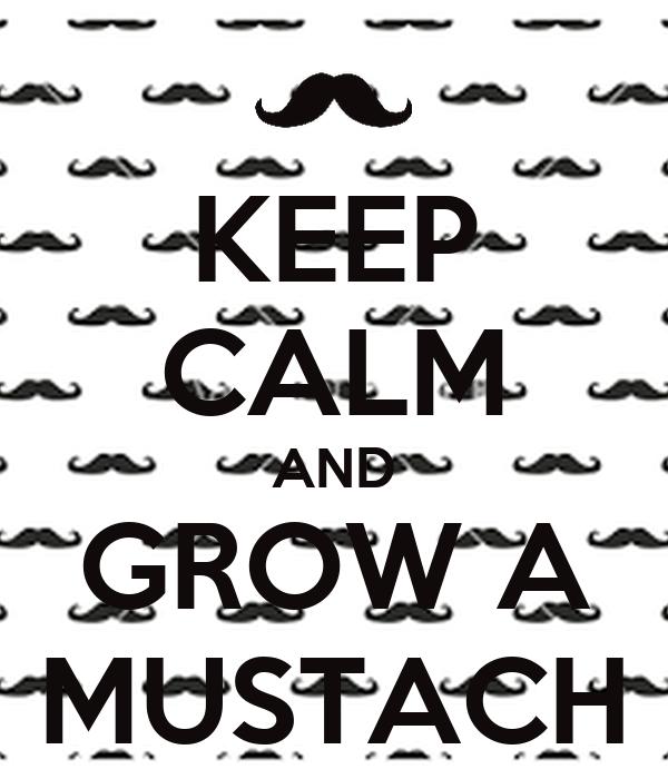 KEEP CALM AND GROW A MUSTACH