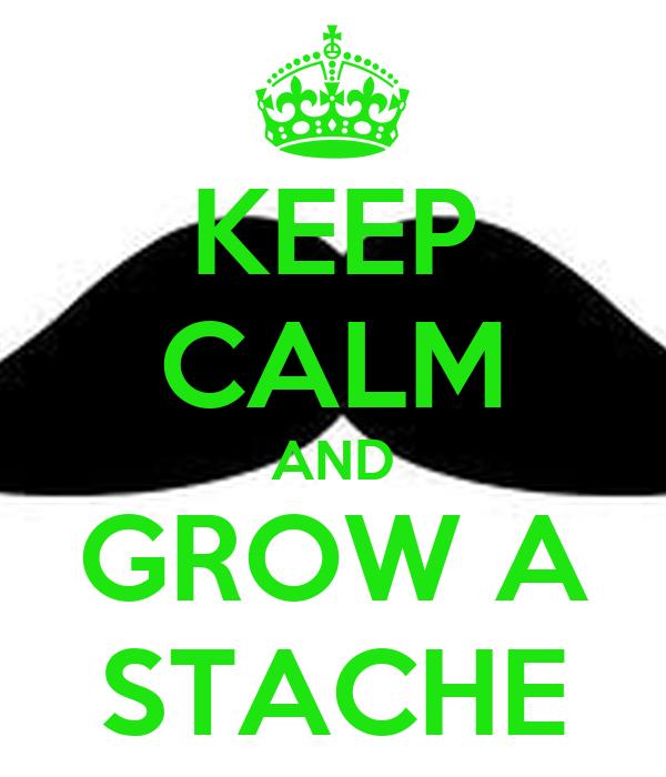 KEEP CALM AND GROW A STACHE