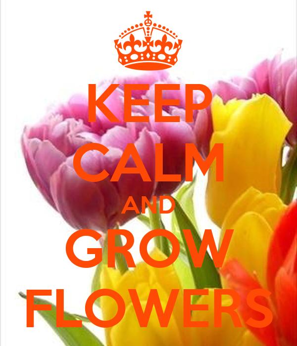 KEEP CALM AND GROW FLOWERS