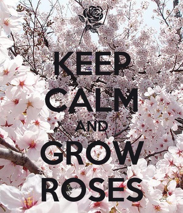 KEEP CALM AND GROW ROSES